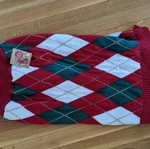 Holiday Tails Dog Sweater - NWT